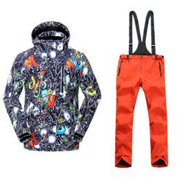 Waterproof Coatings NZ - Winter Jackets Colorful Ski Suit Men Snowboarding Sets Mountain Skiing Hiking Thicken Coat Waterproof Windbreaker Snow Clothes