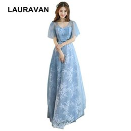 Wholesale elegant blue new arrival occassion sexy and hot party long dress girls pageant bridesmaid dresses ball gown