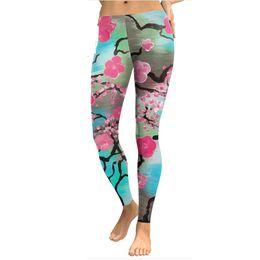 $enCountryForm.capitalKeyWord UK - Leggings Gym Digital Print Cherry Blossom Tights jogging pants for women Halloween gift#TIJIA