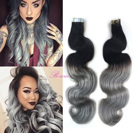 Discount skin weft tape extensions 1b 2018 skin weft tape discount skin weft tape extensions 1b 1b ombre grey tape pu skin weft hair extension india pmusecretfo Gallery