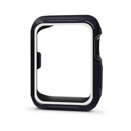 band cases 2018 - Sport silicone Apple Watch band  Series 3 2 1 42mm 38mm Sports Strap Watch protective case  42mm 38mm cheap band cases