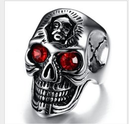 Cast silver rings online shopping - European and American fashion jewelry antique cast ghost ruby ring