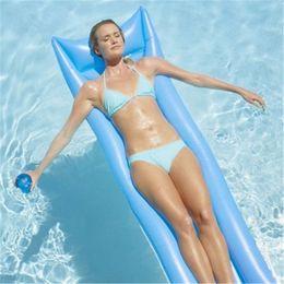 $enCountryForm.capitalKeyWord NZ - Outdoor Water Hammock Single People Increase Inflatable Beach Lounger Backrest Recliner Floating Sleeping Bed Chair Cushion