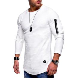 $enCountryForm.capitalKeyWord Canada - T Shirt Men 2018 New Fashion Brand Men T Shirt O Neck Long Sleeve Zipper T-Shirt With Pockets Male Streetwear Hipster Hip Hop Tshirt XXXL