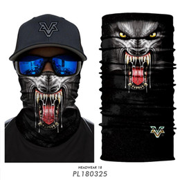 Red tube animals online shopping - 3D Animal Cycling Buffe Face Mask UV Protection Outdoor Cycling Riding Hiking Motorcycling Mask Dust Proof Breathable Seamless Tube Headwear
