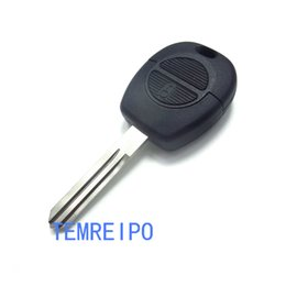 key shell replacement nissan UK - 2 Button Remote Flip Fob Car Key Shell For Nissan Micra Almera Primera X-Trail Replacement Uncut Blade Case Cover
