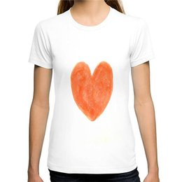 Strawberry Tees Canada - Hipster Tee Tops Strawberry Red Heart O-Neck Women Short Cotton Shirts