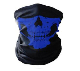 Chinese  Hot sell 8color 24X48cm Skull Bandanas Multifunctional Outdoor Cycling Scarf Magic Turban Sunscreen Hair band mixed order DHL Fast Shipping manufacturers