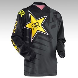 2018 NUEVO para Rockstar Motocross Racing Jersey Riding Team Downhill Jersey Mountain Bike Motocicleta Camiseta