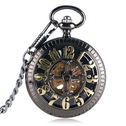 numbers cartoon 2019 - Cartoon Mechanical Pocket Watch Classic Mouse Hollow Number Carving Fob Chain Delicate Boys Girls Clock Special Birthday