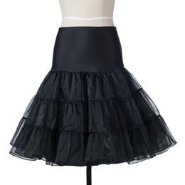 $enCountryForm.capitalKeyWord UK - Short Mini Organza Halloween Petticoat Crinoline Vintage Wedding Bridal Petticoat for Wedding Dresses Underskirt Rockabilly Tutu