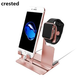 Iwatch charger stand online shopping - CRESTED charger stand dock mm mm iwatch iPhone X Plus samsung S8 S8 Charging Dock Station Stand