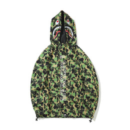 c3579af6d1d9 Bape camo jacket online shopping - Top Quality Autumn New Teenager Hip Hop  Camo Zipper Hooded