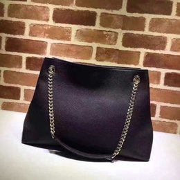 Genuine Leather Handbag Cowhide Shoulder Bag Australia - Top AAAAA Quality Women Genuine Leather Cowhide marmont Handbags Fashion Tassel Soho Shoulder Bag With Chain 38cm #308982 purse
