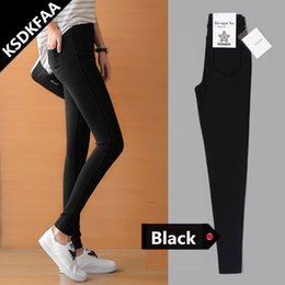 Women's Clothing Bottoms Fsdkfaa 2018 New Arrival Stretch Well 3 Colors Plus Size High Waist Full Length For Four Seasons Women Skinny Pencil Jeans 100% Guarantee