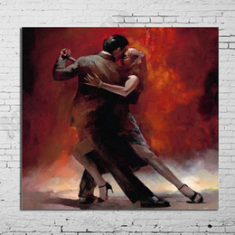 Figure Paintings Australia - Modern Abstract Figure Art Spanish Flamenco Dancer A Couple Lovers Oil Painting On Canvas Home Decor Painting For Living Room