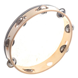 Percussion gifts online shopping - 10 quot Musical Tambourine Drum Round Percussion Gift for KTV Party