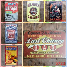 Folk Art Christmas Australia - LAST CHANCE GAS Paint 20*30cm Metal Tin Signs Christmas Decorations Luxury Home Decor Posters Wall Art Arts and Crafts