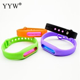 Discount gold bracelets child - Silicone Useful Anti Mosquito Insect Insect Pest Repeller Wrist Band Bracelet Control Protection Adult Children Outdoor