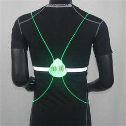 Riding tools online shopping - Sports Led Running Vest Optical Fiber Removable Night Riding Luminous Moisture Proof Reflective Vests With Multi Color sy jj