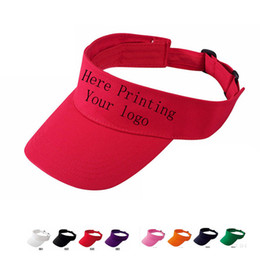 China Wholesale Free Printing Letter Sun Visor Hat Custom adult Trucker Cap Top Air Cap Summer Active Sun Visors Vinyl printing Embroidery LOGO. suppliers