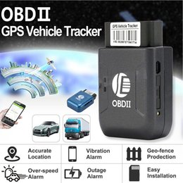 Quad Gsm Alarm Australia - Wholesale OBD2 GPS tracker TK206 OBD 2 Real Time GSM Quad Band Anti-theft Vibration Alarm GSM GPRS Mini GPRS tracking OBD II car gps