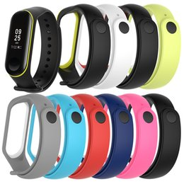 Wholesale 100PCS For Xiaomi Mi Band Sport Strap watch Silicone wrist strap For xiaomi mi band accessories bracelet Miband3