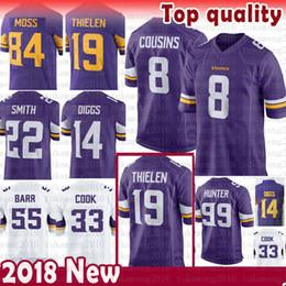8 Primos de Kirk Minnesota 19 Vikings Adam Thielen 14 Stefon Diggs Jersey 22 Harrison Smith 33 Cozinheiro 21 Barr 84 Randy Moss novo Rodes 99 Rodes