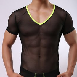 $enCountryForm.capitalKeyWord Australia - Mens Vest Mesh Breathable Sexy Mesh See Through Transparent Short Sleeve Gay Tank Top Undershirt Men Tank Top Shirts Singlet Fitness
