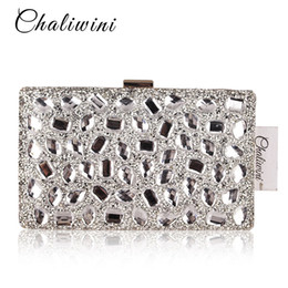 Crystal Hanging Toiletry Bag Women Clutch Purses Gold Clutches Bags Blue  Evening Bag Party Silver Wedding Clutch 174053046399