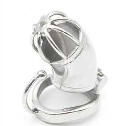 $enCountryForm.capitalKeyWord UK - New Male Annular Chastity Cage Device Belt with Open Mouth Snap Ring Small Size Stainless Steel Kit Bondage SM Toys Cock Locks Q778