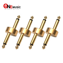 Effects Pedal Connector Canada - 4PCS LOT Z Type Guitar Effect Pedal Coupler Connector 1 4 inch Golden