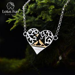$enCountryForm.capitalKeyWord Australia - Lotus Fun Real 925 Sterling Silver Handmade Fine Jewelry Romantic Bird in Love Heart Shape Bracelet for WomenY1882803