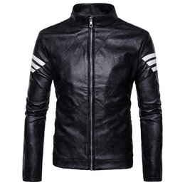 Brown Jacket For Boys NZ - Mens Leather Jacket Motorcycle Jacket Young Men Slim Fit Zipper Blazers For Boys US Fashion Style Black Brown