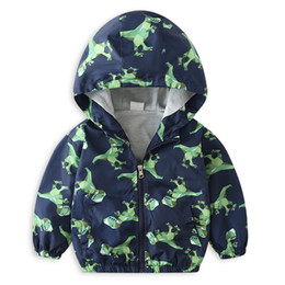 Boys Dinosaur Jacket Australia - Children's Jackets Jacket for boy Camouflage Cartoon Dinosaur Boys Coats Navy Hooded Coat Autumn Winter Clothing kids age 2-6 y