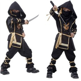 women warriors costumes UK - Sexy Kids Ninja Costumes Halloween Party Boys Girls Warrior Stealth Children's Day Cosplay Assassin Costume S920