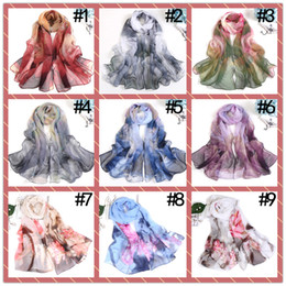 Silk deSignerS ShawlS online shopping - Colors Artificial Silk Scarf Designer Floral Flower Women Hijab Shawls Pashmina Head Wrap Scarves Table Blanket Beach Towel