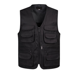 $enCountryForm.capitalKeyWord Australia - V-Neck Man Vests Sleeveless Unloading Fashion Waistcoat With Many Male Coat Pockets Military Jacket Mens Tactical Vest Sweatshirts