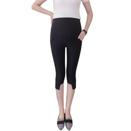 $enCountryForm.capitalKeyWord NZ - Pengpious 2018 summer solid color pregnant women trousers thin fashionable maternity cotton capris irregular skinny belly pants