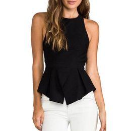 8346fa546b Tank Top Women 2018 Chiffon Women Tops Sexy Backless Summer Solid Black Cami  Casual Sexy & Club Female Vest Haut Femme 530