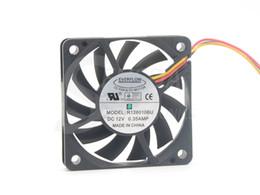 double fan 12v 2018 - New Everflow R126010BU 6010 6CM double ball 12V 0.35A fan CPU cooler winds of 60 * 60 * 10mm cooler discount double fan