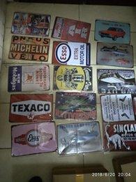 Frete grátis Shell Oil Shell Motor Rota da Garagem 66 Retro Vintage TIN SIGN Velho Pintura Metálica ART Bar, Man Caverna venda por atacado