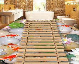 $enCountryForm.capitalKeyWord NZ - wallpaper living room Chinese style fish pond wooden bridge Hawthorn 3D three-dimensional painting tiles