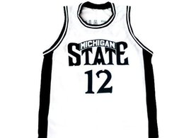 a9b581a16622 wholesale Mateen Cleaves  12 Michigan State New Basketball Jersey White  Stitched Custom any number name MEN WOMEN YOUTH BASKETBALL JERSEYS