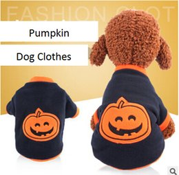 extra warm sweatshirts Canada - Halloween Pumpkin Pet Dog Clothes Halloween Dog Sweater Costumes Winter Warm Fleece Dog Apparel Deep Blue