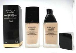 Llegada Marca Perfección Lumiere Liquid Foundation Blanqueamiento concealer Crema Hidratante Fundación Base Facial SPF10 / PA ++ 60ml
