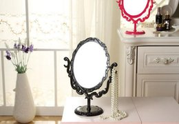 $enCountryForm.capitalKeyWord NZ - Retro Desktop Cosmetic Mirror Large Size Beauty Mirror 360 °Rotating Table Mirror Black Pink Rose red