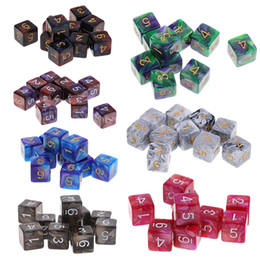 $enCountryForm.capitalKeyWord Australia - 10PCS Acrylic D6 Drink Digital Dice Set For Dungeons Dragons Games Dices Play Game 6 Sided Polyhedral Die New