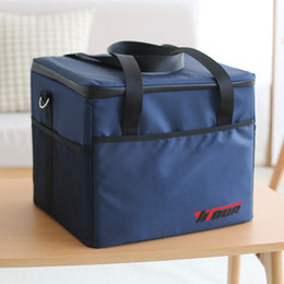 Picnic Ice Packs Australia - 37L Cooler Bag High quality Car ice pack picnic Large cooler bags 3 Colors Insulation package thermo ThermaBag refrigerator