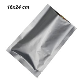 $enCountryForm.capitalKeyWord UK - 50pcs lot 16x24 cm Open Top Pure Aluminum Foil Flat Vacuum Packaging Pouch Mylar Foil Heat Seal Food Storage Packing Pack Bag for Seeds Nuts